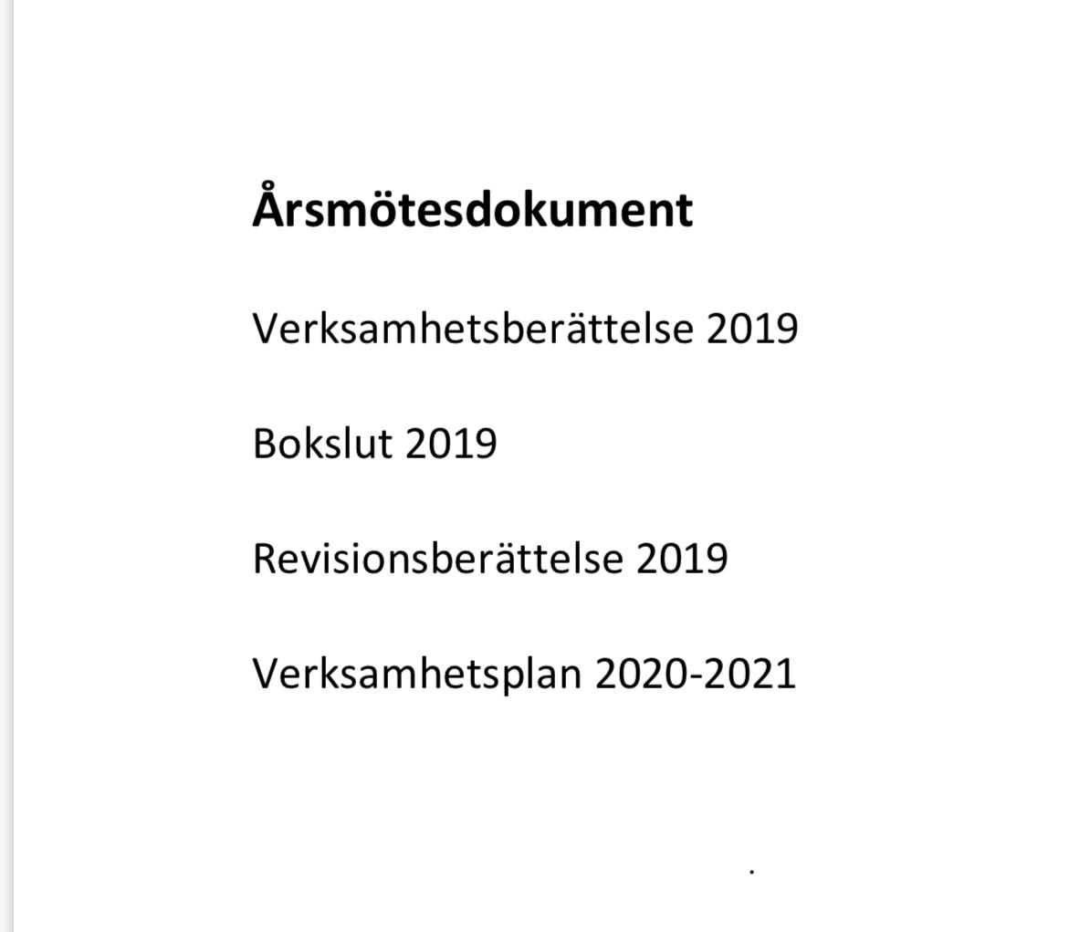 Årsmötesdokument 2020