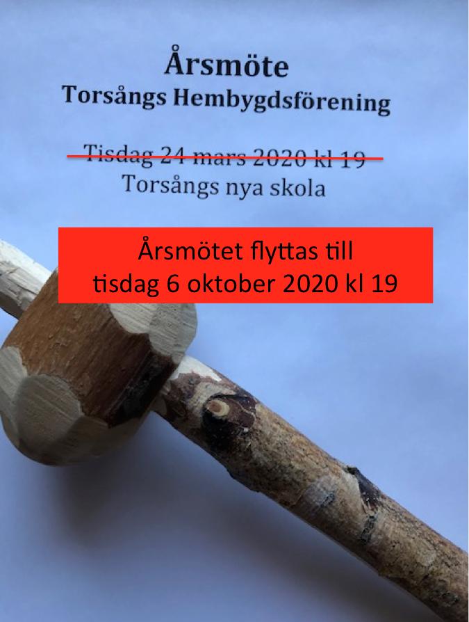 Årsmötet flyttas till oktober 2020