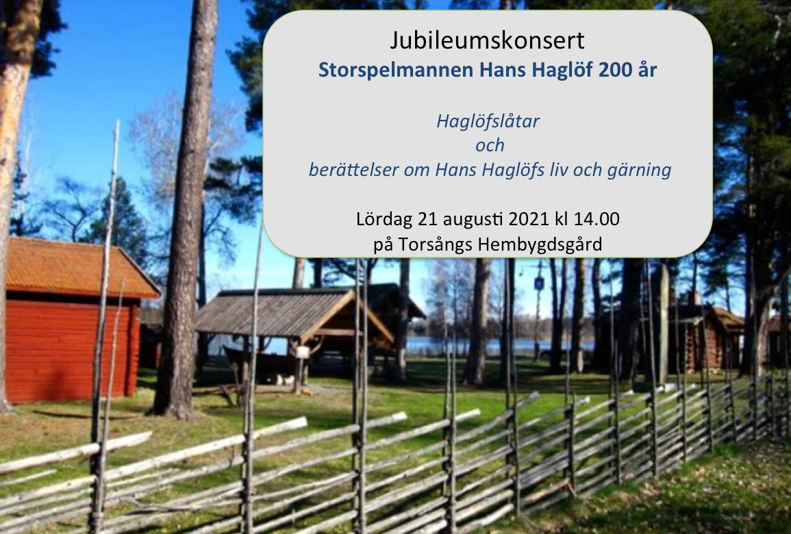 Storspelmannen Hans Haglöf 200 år  Jubileumskonsert
